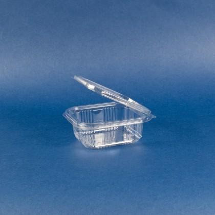 Caserole dreptunghiulare cu capac 250 ml, 45x120x110 mm, 100 buc./set