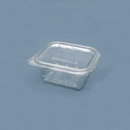 Caserole dreptunghiulare cu capac 375 ml, 60x125x110 mm, 100 buc./set