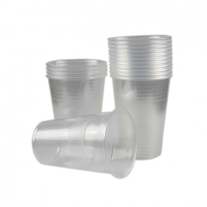 Pahare Dopla, transparente, 400 ml, 50 buc./set