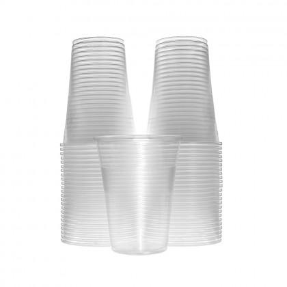 Pahare transparente, 350 ml, dubla gradatie, 250/300 ml., 50 buc./set