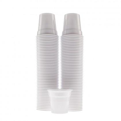Pahare Dopla albe, 80 ml, 100 buc./set
