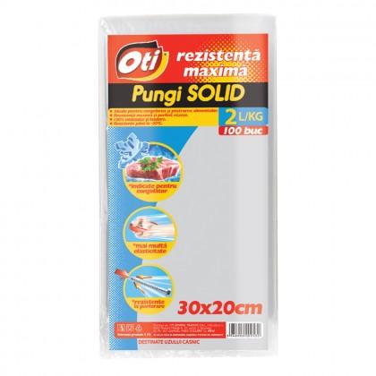 Pungi pentru uz casnic SOLID 2L, 30x20 cm, 100 buc./set