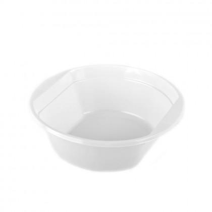 Boluri din plastic cu maner Kreispack, 500 ml, alb, 100 buc./set