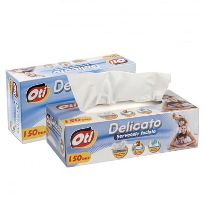 Servetele faciale OTI Delicato, 2 straturi, 150 buc./cutie