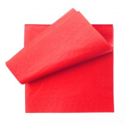 Servetel 33x33 cm., rosu, 1 strat, 250 buc./pachet