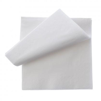 Servetel 33x33 cm., alb, 2 straturi, 250 buc./pachet