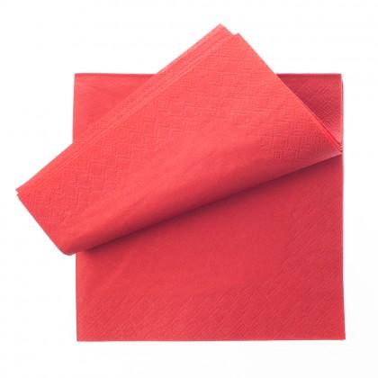 Servetel 33x33 cm., rosu, 2 straturi, 250 buc./pachet