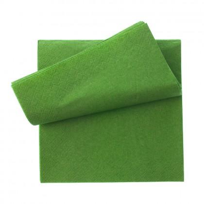 Servetel 33x33 cm., verde, 1 strat, 1000 buc./pachet