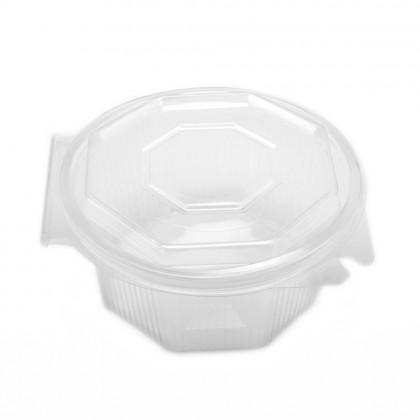 Castron salata cu capac atasat 750 ml., 95x160x160 mm, 100 buc./set