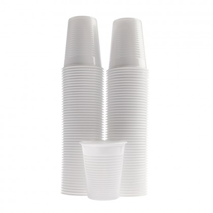 Pahare Dopla albe, 200 ml, 100 buc./set