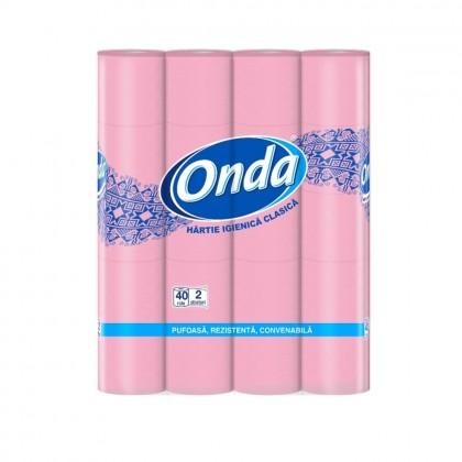 Hartie igienica Onda, 2 straturi, 40 role