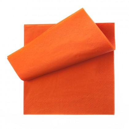 Servetel 33x33 cm., portocaliu, 3 straturi, 250 buc./pachet