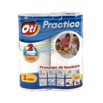 Prosop de bucatarie Oti Practico, 2 straturi, 2 role