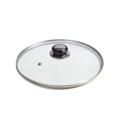 Capac din sticla termorezistenta, Ø 24 cm, pentru oale si tigai