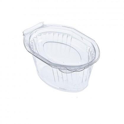 Sosiere ovale cu capac atasat 80 ml, 100 buc./set